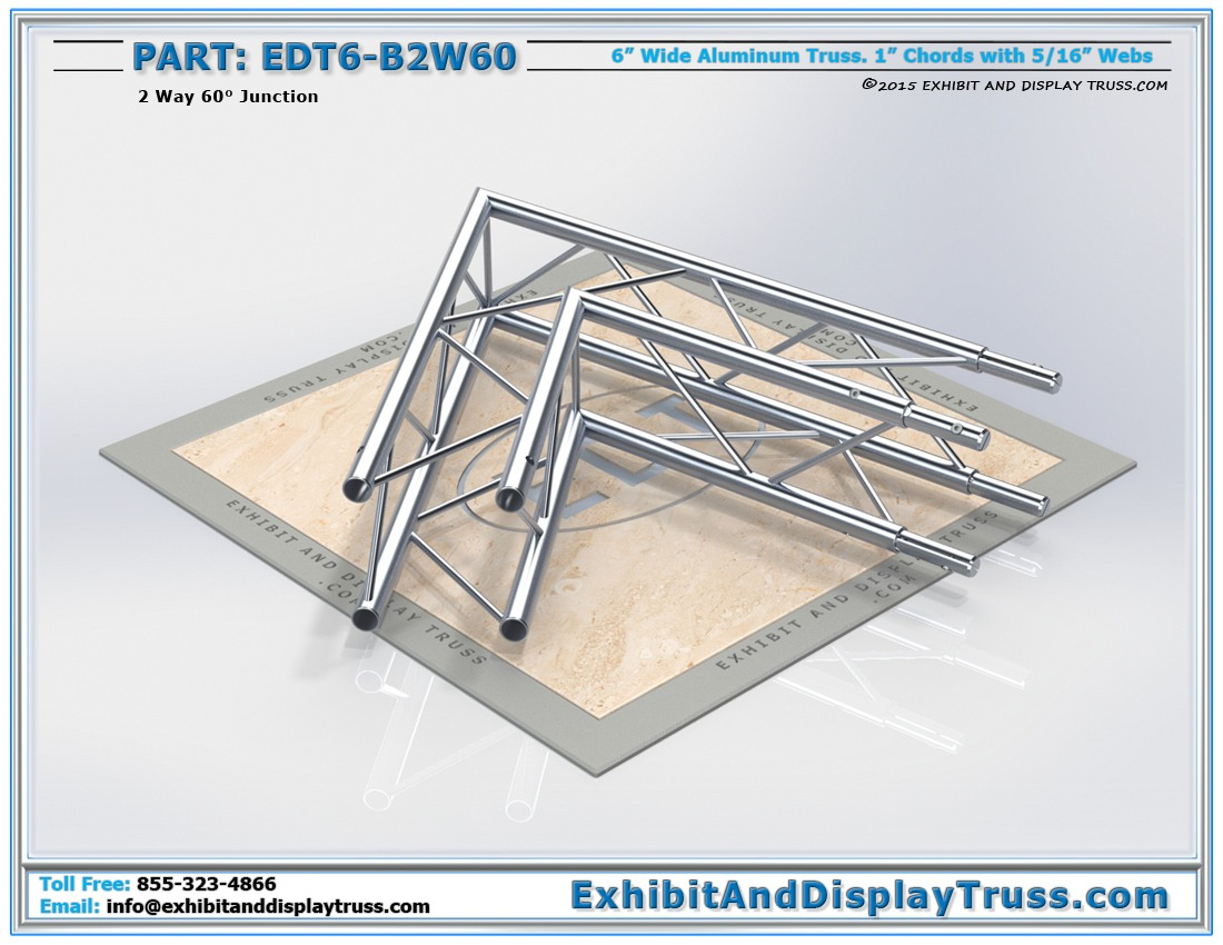 EDT6-B2W60 / 2 Way 60° Box Junction
