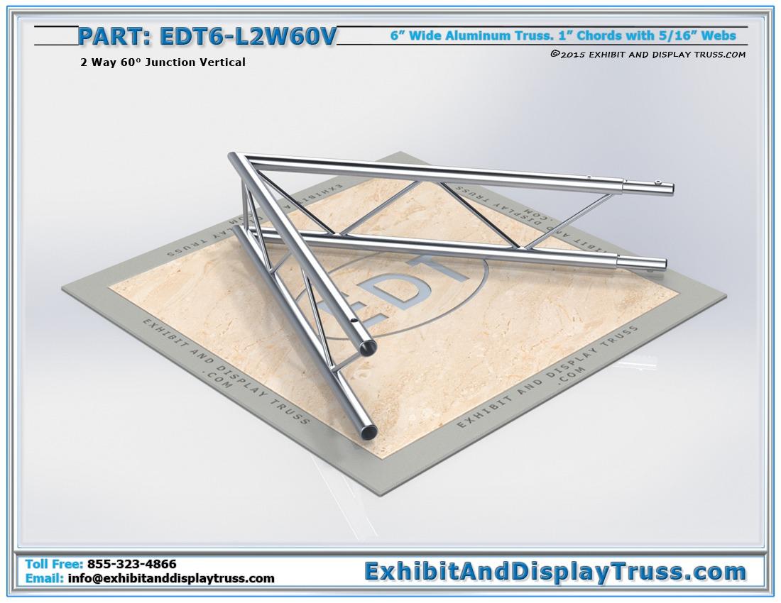 EDT6-L2W60V / 2 Way 60° Ladder Junction Vertical