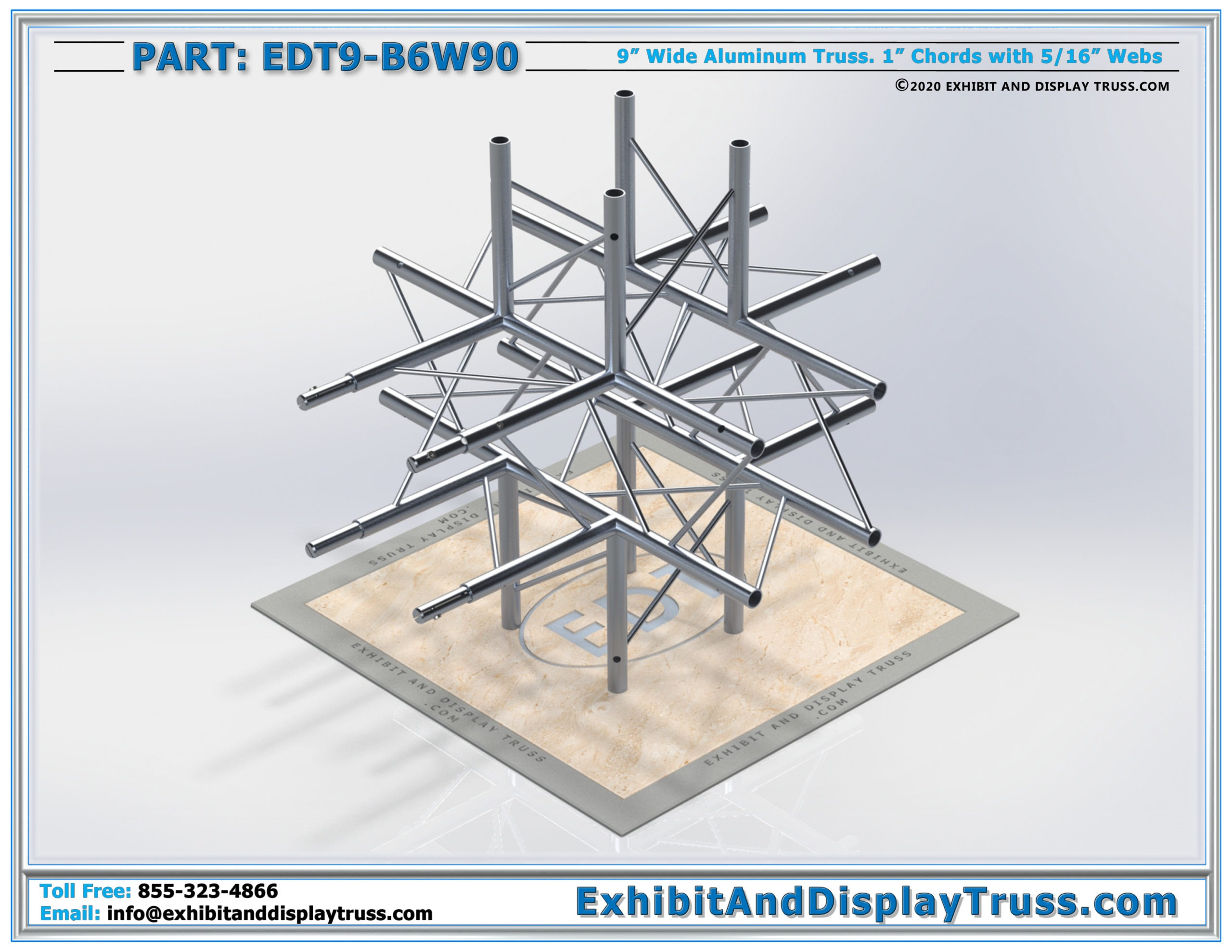 EDT9-B6W90 / 6 Way 90° Box Junction