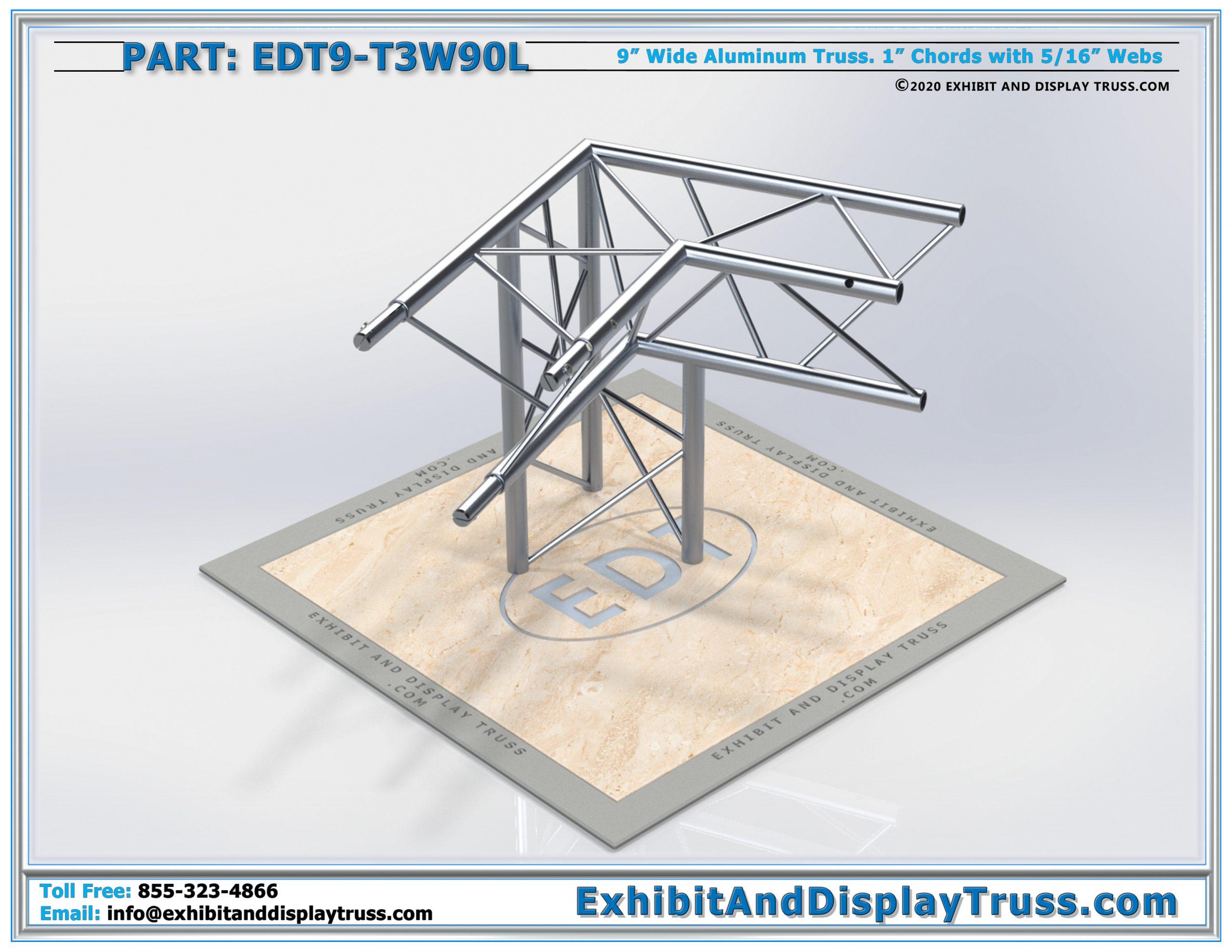 EDT9-T3W90L / 3 Way 90° Junction Left