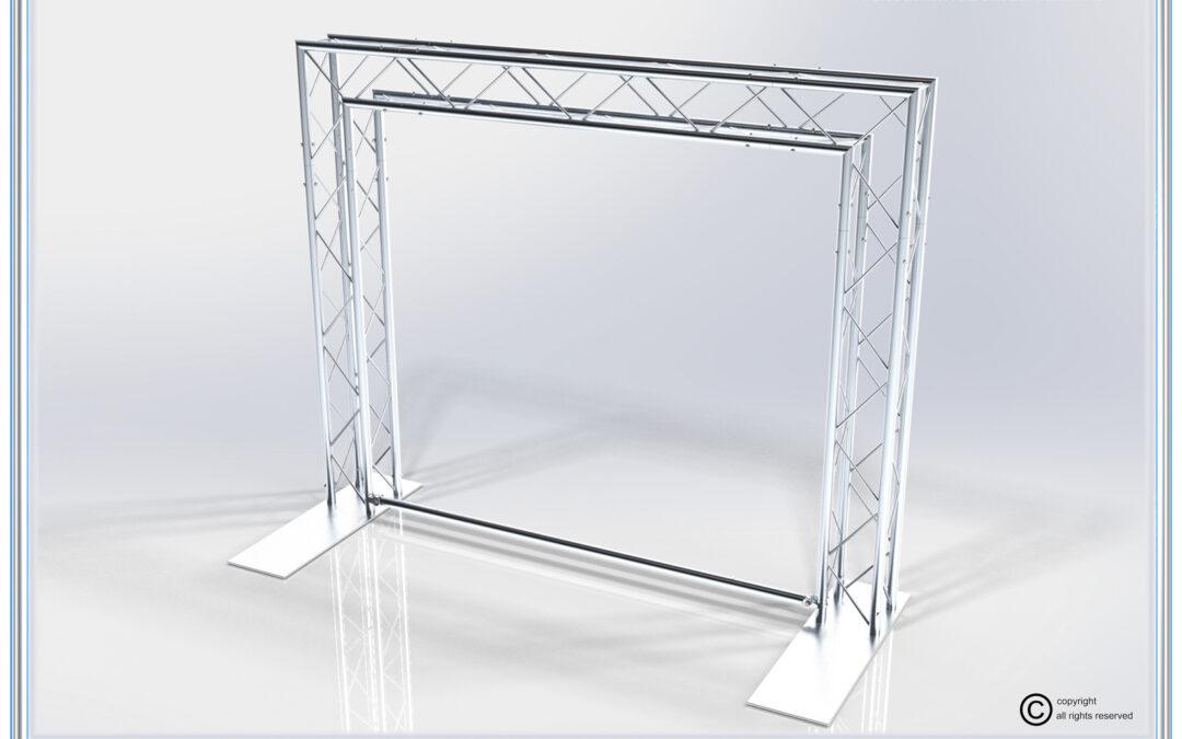 Kit: A55-124 / Stylish Aluminum Truss Back Wall