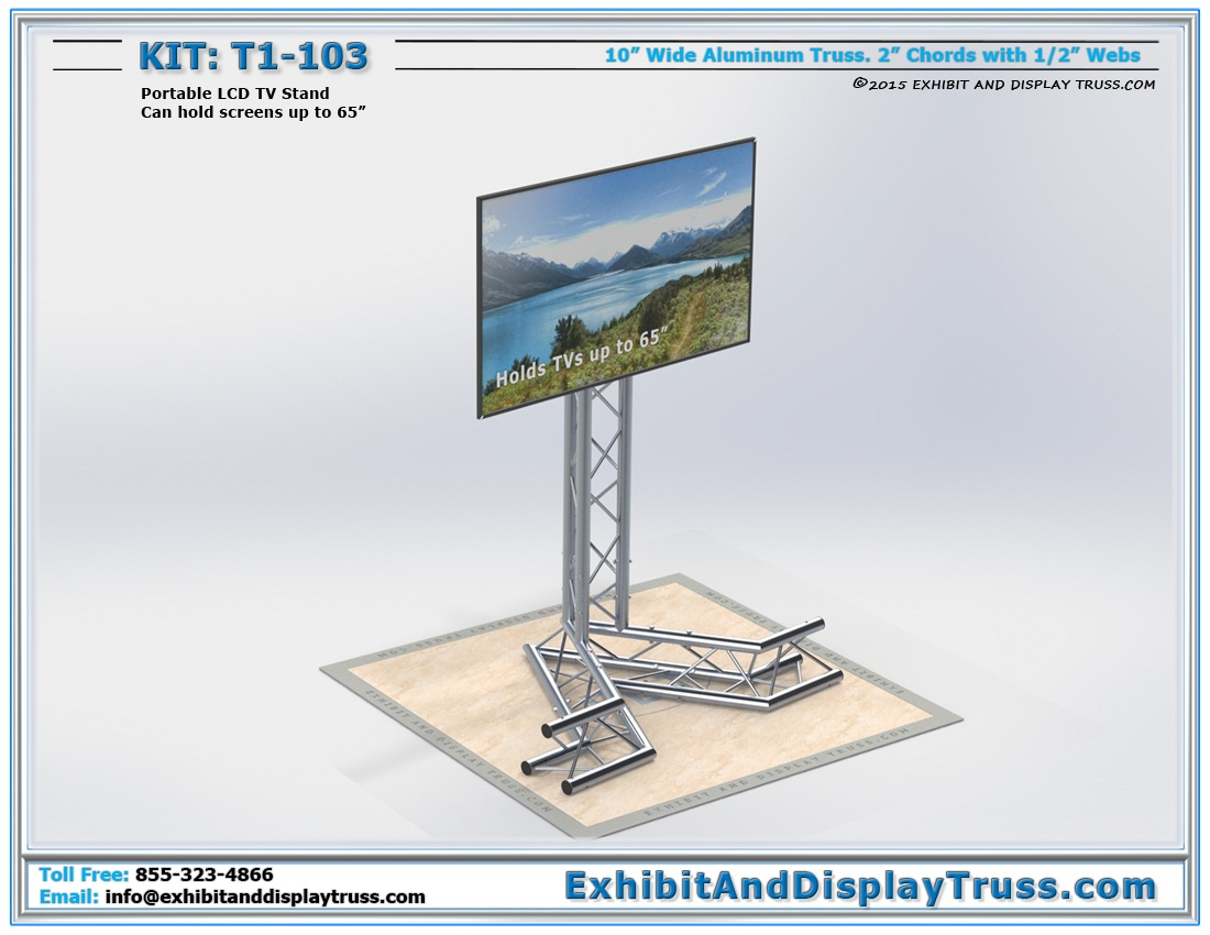 T1-103 Portable TV Stand / Portable LED Screen Support