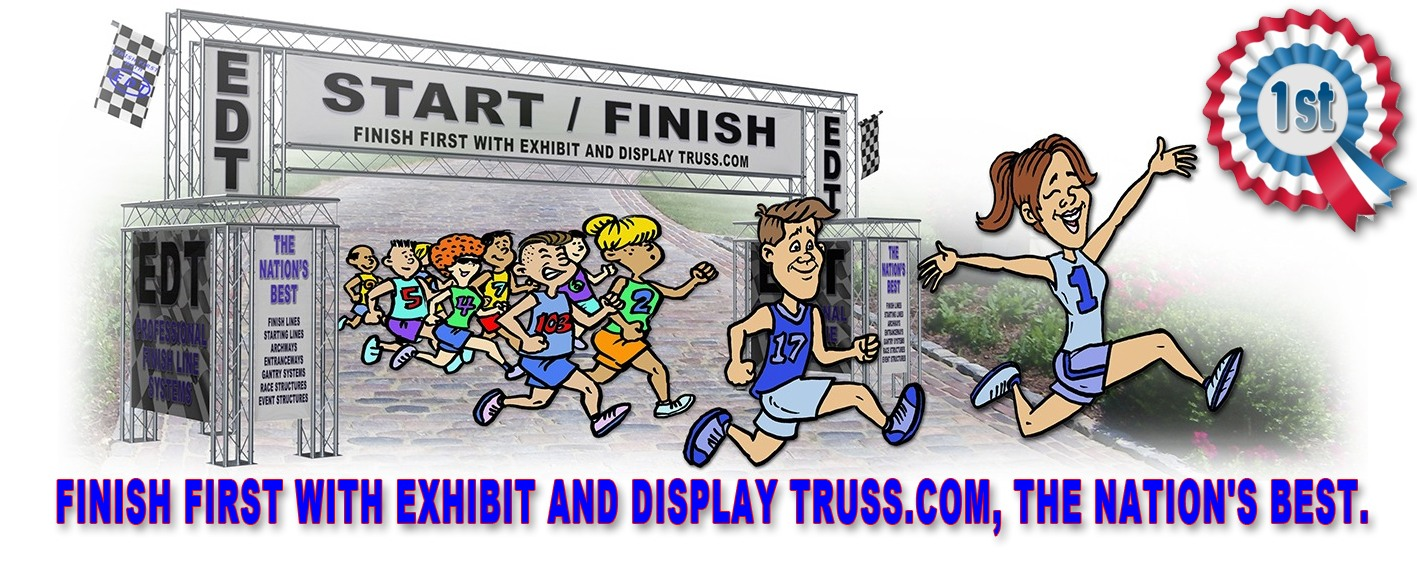 Aluminum Truss finish line and starting line kits. The nation's best finish line systems.