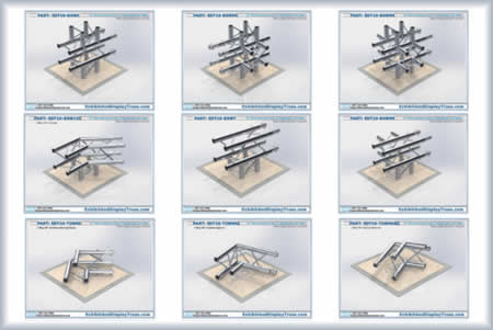 aluminum truss parts junctions corners