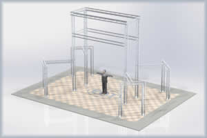 large aluminum trussing exhibit booth convention display system kit