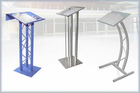 lectern podium aluminum truss lecterns podiums