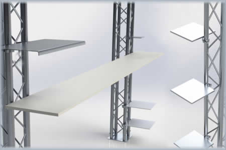 shelf shelves aluminum truss shelving shelf system